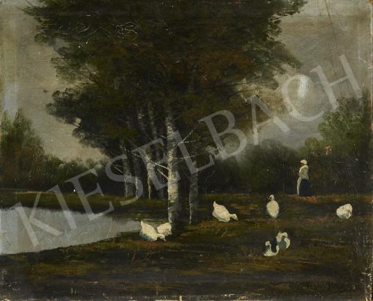 For sale  Vendel, János - Geese at the Lakeside, c. 1930 's painting