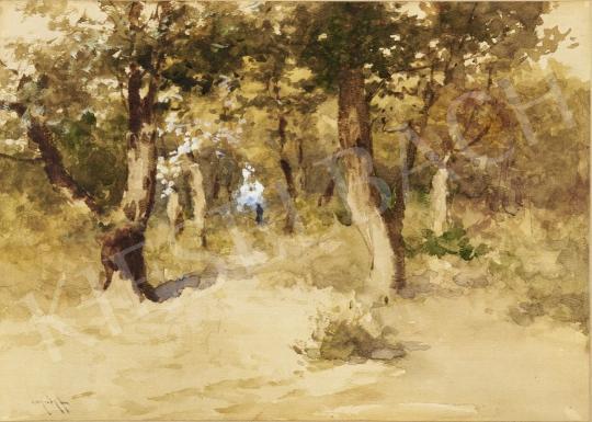 Eladó Neogrády Antal - Séta az őszi erdőben festménye