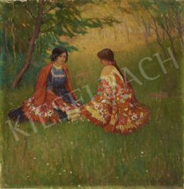 Ismeretlen magyar festő - Szabadban, 1910-es évek