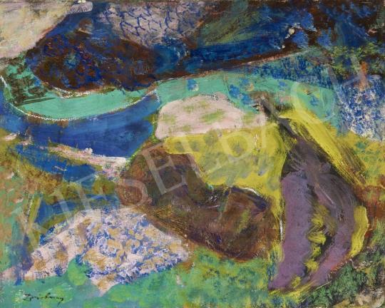 Eladó  Ismeretlen festő olvashatatlan jelzéssel - Provence-i táj festménye