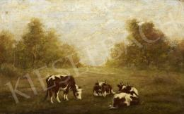 Signed Németh - Grazing Cows
