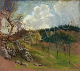 Signed Béla Gábori - Early Spring, 1928