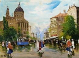 Berkes, Antal - Street Scene in Paris