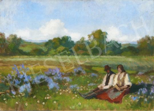 Eladó Balla Béla - Virágos mezőn (Szerelmesek) festménye