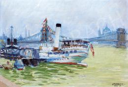 Lakatos Artúr - Sétahajó a Duna-parton, 1920