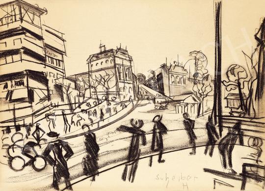 Scheiber Hugó - Nagyvárosi forgalom, 1920-as évek | 53. Őszi Aukció aukció / 6 tétel