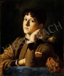 Körösfői Kriesch Aladár - Fiatal lány rózsával ( Abt Klotild portréja), 1887