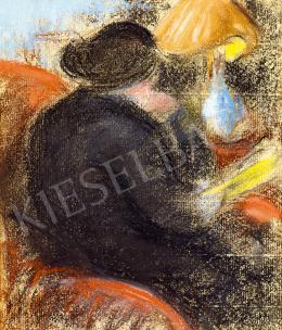 Rippl-Rónai József - Lámpánál olvasó nő, 1900 körül