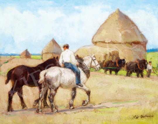 Pór Bertalan - Nyári mezőn, 1910 előtt | 53. Őszi Aukció aukció / 24 tétel