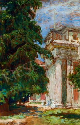 Vaszary János - Madridi emlék (A Prado Múzeum főbejárata), 1905