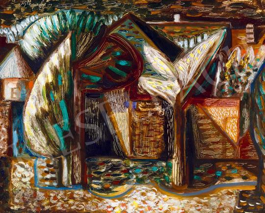 Bene Géza - Szentendrei táj, 1957 | 53. Őszi Aukció aukció / 36 tétel