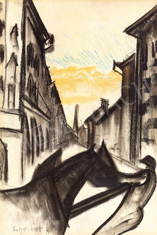 Scheiber Hugó - Alkonyi fények a város felett | 53. Őszi Aukció aukció / 37 tétel