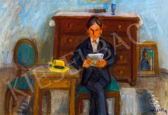 Kmetty, János - Man Reading in the Studio (Self-Portrait), 1930s | 53rd Autumn Auction auction / 39 Lot