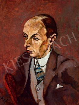 Tihanyi Lajos - Hegedűművész portréja, 1915 körül (Kenton Egon, született Kornstein Egon)