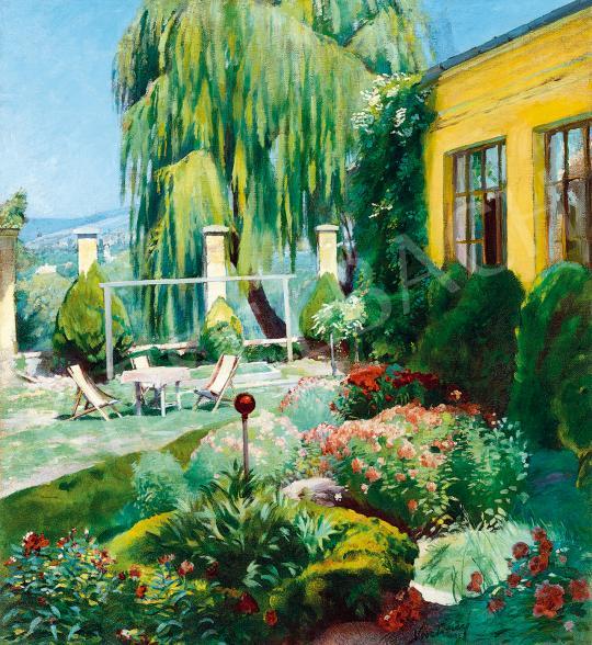 Vesztróczy Manó - Nyár a villakertben, 1930 körül | 53. Őszi Aukció aukció / 47 tétel