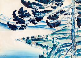 Csapek Károly - Kilátás a domboldalról, 1930-as évek