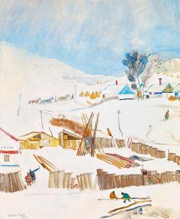 Vadász Endre - Téli falu, 1934
