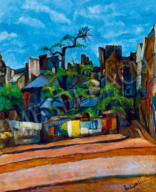 Perlrott Csaba, Vilmos - Paris Street Scene with Colourful Posters, beginning of the 1920s | 53rd Autumn Auction auction / 64 Item