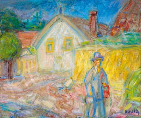 Kmetty János - Séta Szentendrén (A festő) | 53. Őszi Aukció aukció / 121 tétel