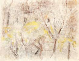 Czóbel Béla - Aranyeső a szentendrei kertben