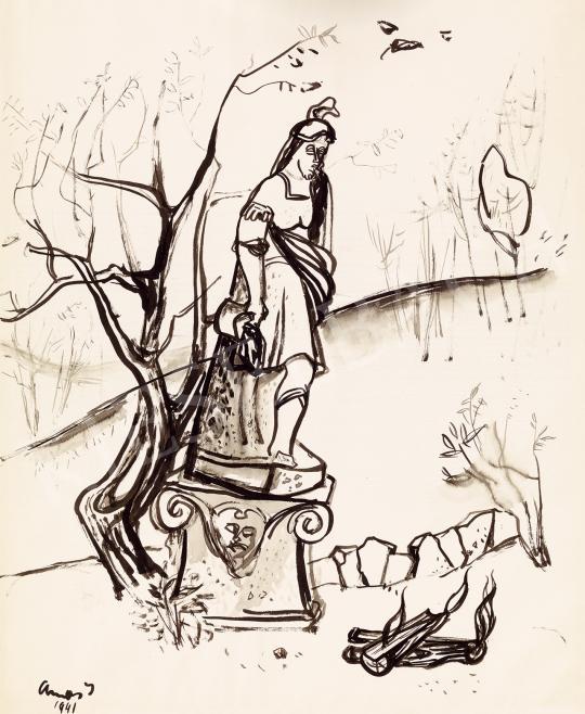 Ámos, Imre - Autumn Mood (Florian) 1941 | 53rd Autumn Auction auction / 156 Item