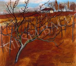 Bornemisza, Géza - Autumn Hillside with Fruit Tree and Grape Vines, 1921