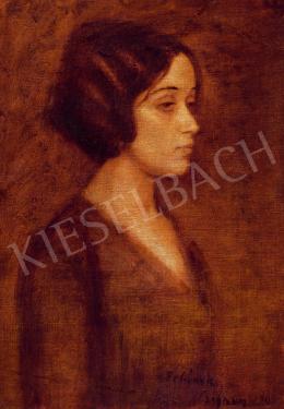 Czigány Dezső - Álmodozó fiatal hölgy, 1911