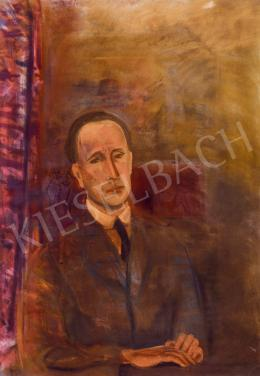 Bernáth Aurél - Barna ruhás férfi (Férfi barna ruhában; Önarckép barna ruhában), 1934