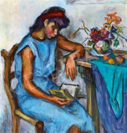 Gráber Margit - Könyvet olvasó lány