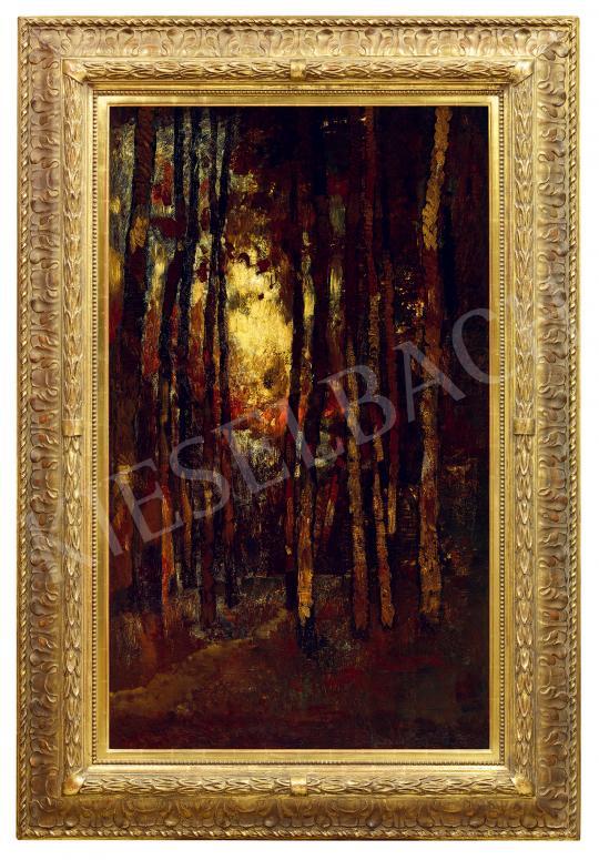 Paál László - Naplemente az erdőben (Tavaszi este Aaperwaldban), 1871 | 53. Őszi Aukció aukció / 189 tétel