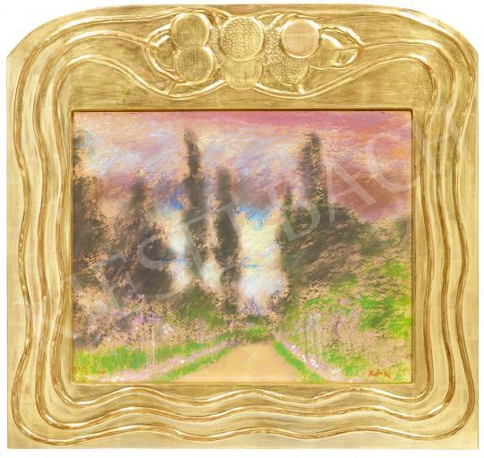 Rippl-Rónai József - Parkrészlet rózsafákkal, 1924   53. Őszi Aukció aukció / 190 tétel