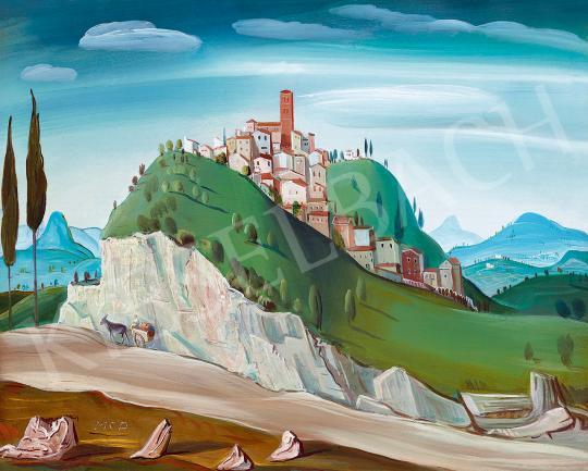 Molnár C. Pál - Itáliai táj, 1930-as évek | 53. Őszi Aukció aukció / 120 tétel
