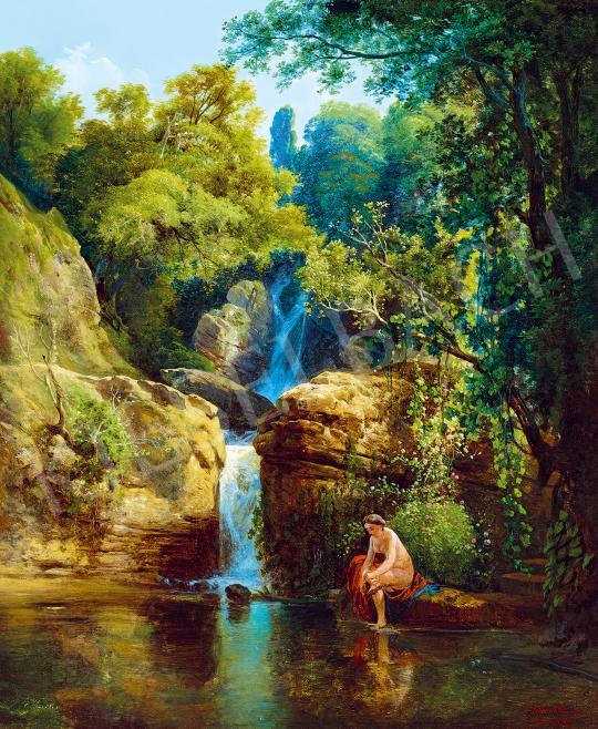 Id. Markó Károly - Fürdő nimfa, 1843 | 53. Őszi Aukció aukció / 48 tétel