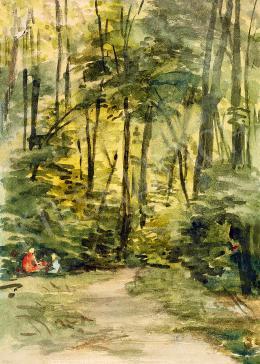 Lotz Károly - Erdőben pihenő
