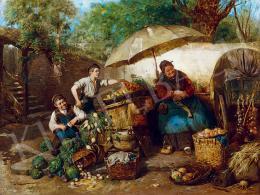 Spitzer, Emanuel (Spitzer Manó) - On the Market of München, 1881