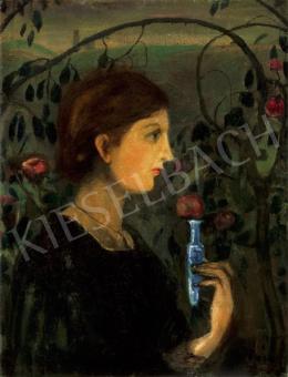 Gulácsy Lajos - Lány rózsalugasban