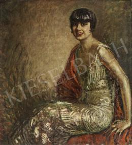 Márk Lajos - Bubifrizurás nő