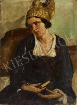 Ismeretlen festő, 1925 körül - Főkötős nő