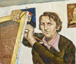 Rózsahegyi György - Festő műteremben (Önarckép), 1978