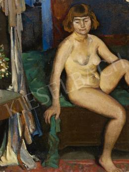 Ismeretlen festő, 1930 körül - Női akt műteremben