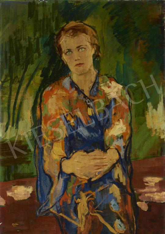 Zsótér Ákos - Napsütéses kertben, 1933 festménye