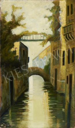 Ismeretlen magyar festő Barabás jelzéssel, 1920-as évek - Velence
