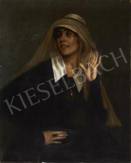 Ismeretlen festő, 20. század első harmada - Hölgy medállal (Mozdulat)