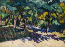 Ismeretlen festő, 20. sz. első harmada - Fények a parkban