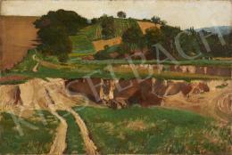 Ismeretlen magyar festő, 20. század első negyede - Dombos táj