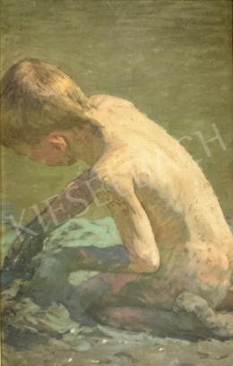 Poll, Hugó - Kneeling Boy