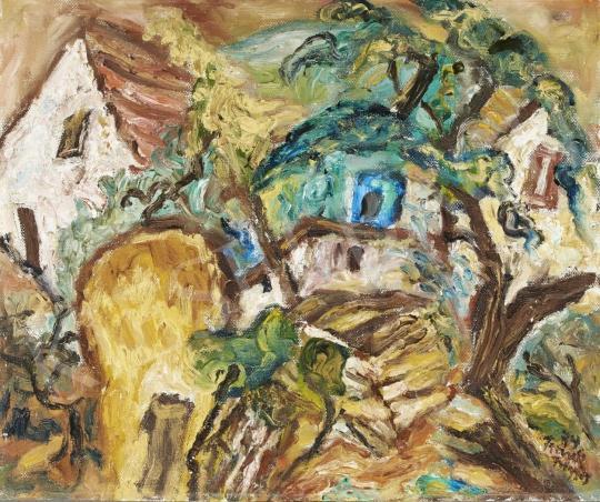 Frank Frigyes - Hidegkúti táj, 1974 festménye