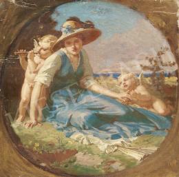 Stein, János Gábor - Kalapos lány puttókkal
