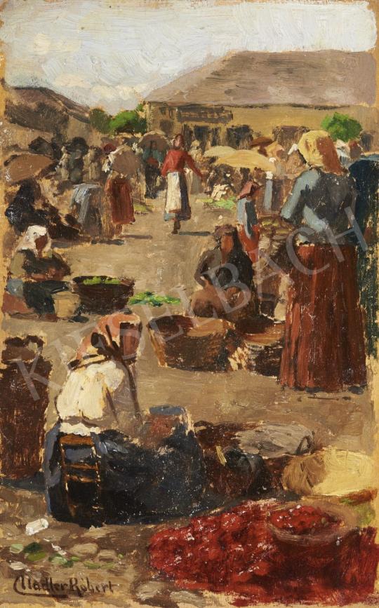 Nádler Róbert - Piaci kofák festménye