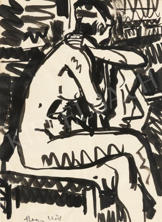 Nagy Előd - Ülő női akt festménye